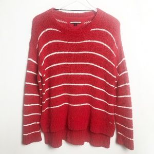 Tommy Hilfiger   Red & White Striped Soft Sweater